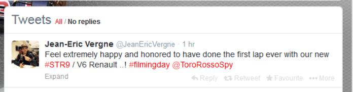 Jean-Eric Vergne Tweet