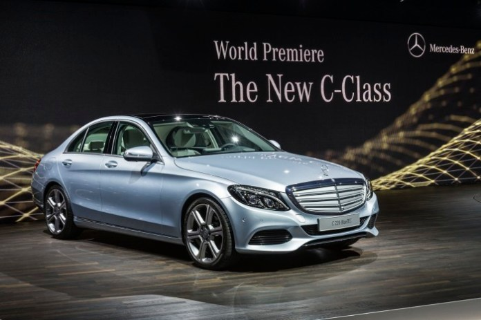 Mercedes Benz C-Class 2015 Live Photos from Detroit 2014 (18)