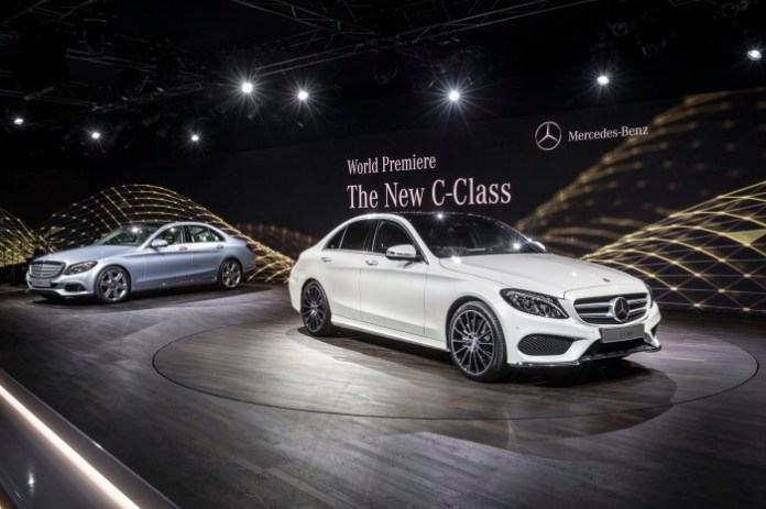 Mercedes Benz C-Class 2015 Live Photos from Detroit 2014 (19)