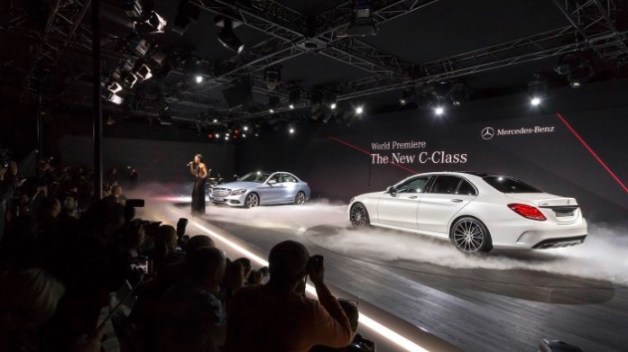 Mercedes Benz C-Class 2015 Live Photos from Detroit 2014 (8)