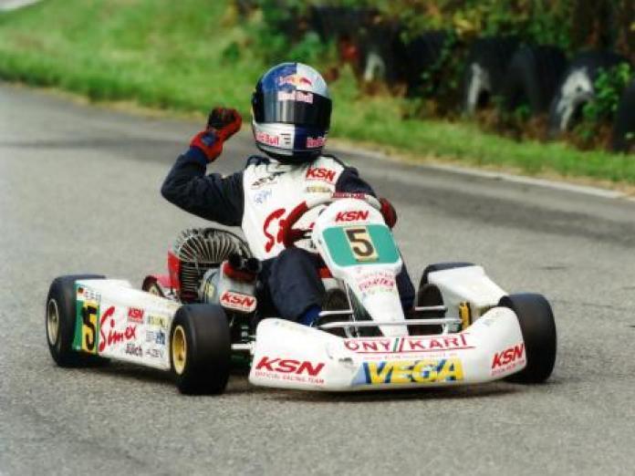 Sebastian Vettel kart