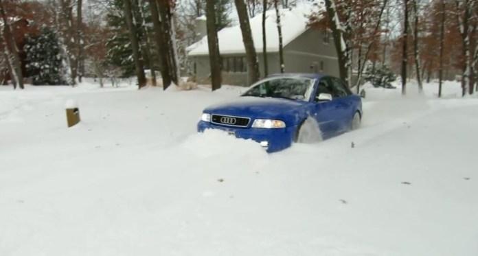 audi s4 snow
