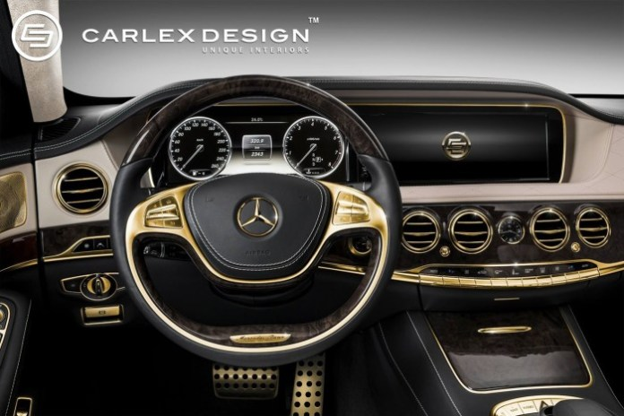Gold interior for Mercedes S63 AMG by Carlex Design 01