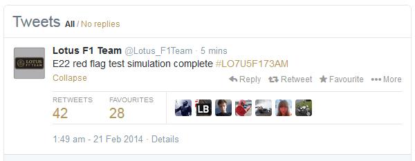 Lotus Tweet
