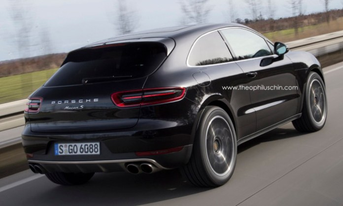 Porsche Macan Coupe rendering back