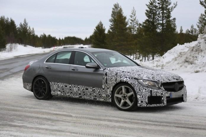 2015 Mercedes-Benz C63 AMG Sedan spy photo (3)