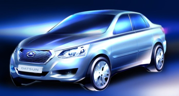 Datsun russia sedan teaser photo