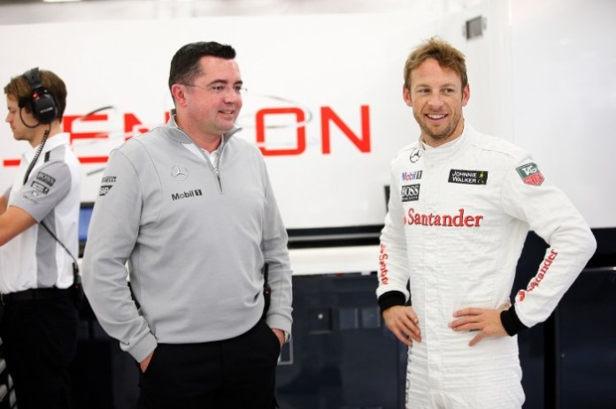 Eric Boullier and jenson Button