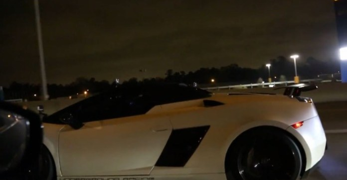 INSANE 1800hp Gallardo races Alpha 16 GTR on the street