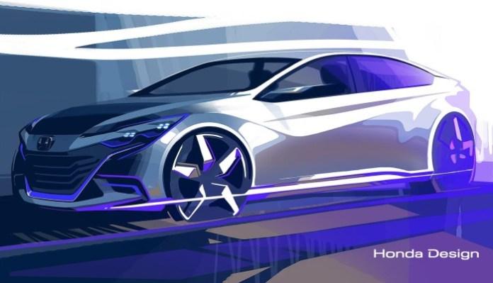 Honda concept teaser photo for 2014 Beijing Motor Show