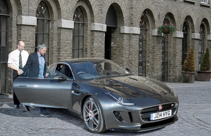 Jose Mourinho receives new F-Type R Coupe (2)