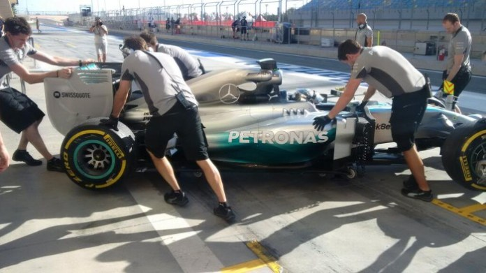 Mercedes Bahrain 3rd Test - Day 1