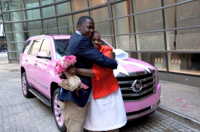 Cadillac Celebrates Teddy Bridgewater and Rose Murphy