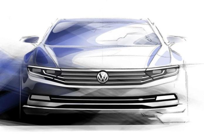 Volkswagen Passat sketches (1)