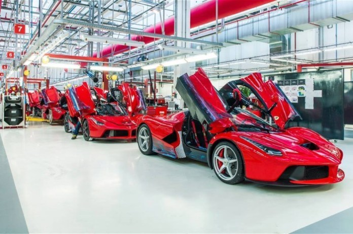 ferrari laferrari production line