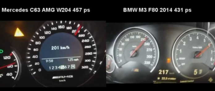BMW M3 F80 2014 vs Mercedes C63 AMG W204