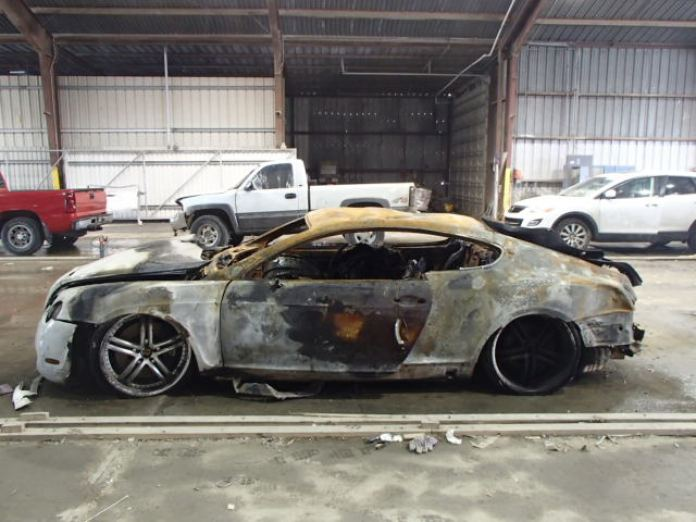 Burnt Bentley Continental GT