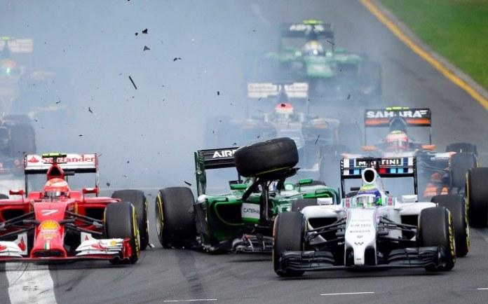 2014_Australian_Grand_Prix_First_Corner_Accident