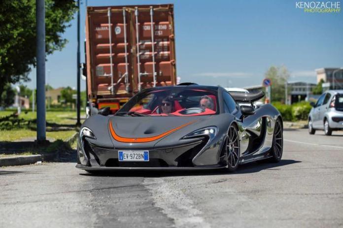 Horacio Pagani driving McLaren P1 MSO