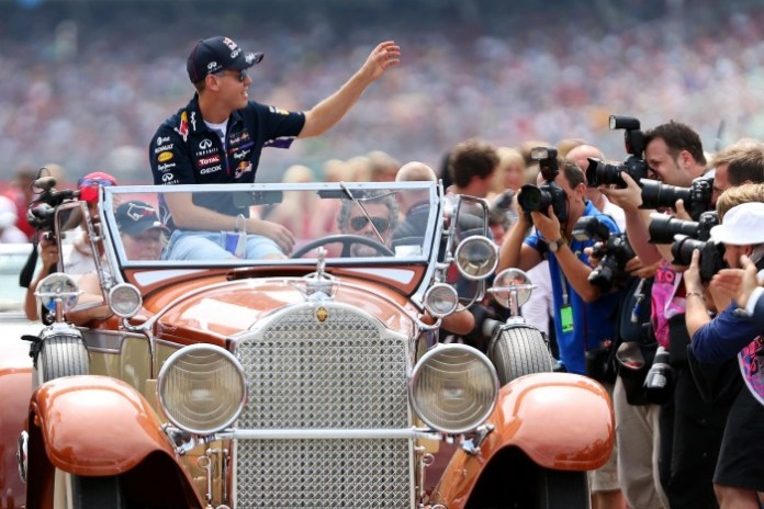 during the German Grand Prix at Hockenheimring on July 20, 2014 in Hockenheim, Germany.
