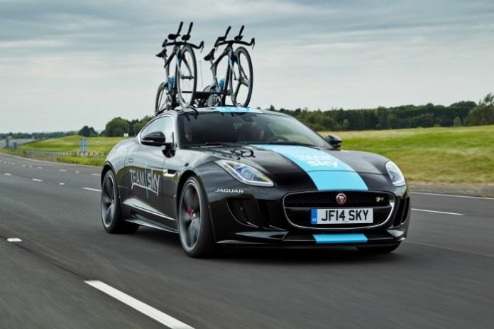 Jaguar F-Type R Coupe support vehicle for Tour de France (8)