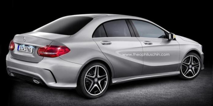 Mercedes-Benz A-Class Sedan render / Theophilus Chin