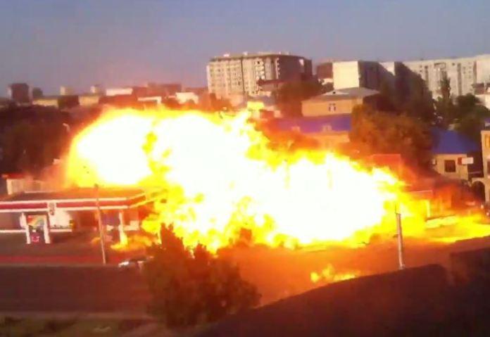 Gas Station Explode
