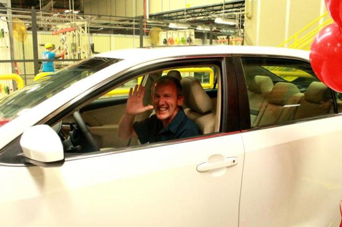 Tom Keith wins brand new Toyota Camry in factory raffle (1)