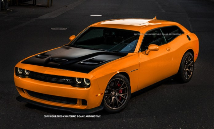 Dodge Challenger SRT Hellcat Shooting Brake Rendering (1)