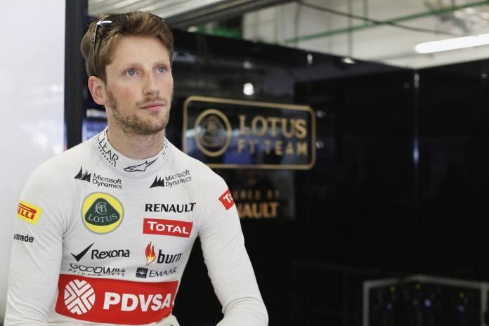 Sochi Autodrom, Sochi, Russia.Sunday 12 October 2014.Romain Grosjean, Lotus F1.Photo: Alastair Staley/Lotus F1 Team.ref: Digital Image _R6T4380