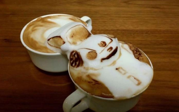 coffee art vw beetle