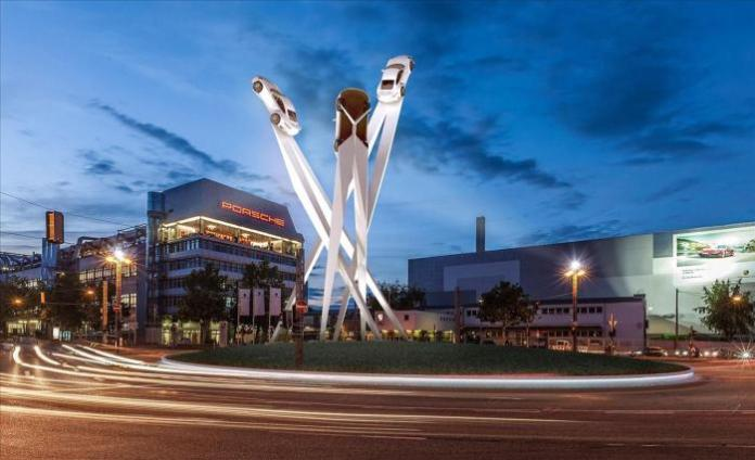 Porsche 911 sculpture rendering (2)