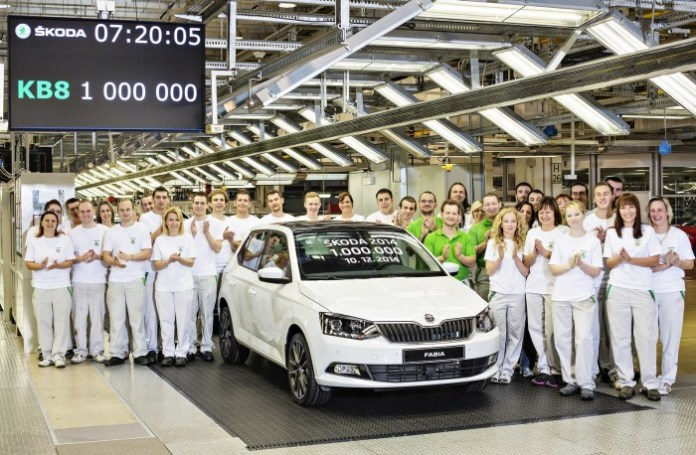 141210 1 million SKODA Cars produced in 2014 - 001