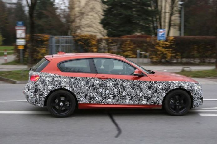 MW 1-Series Facelift spy photos (2)