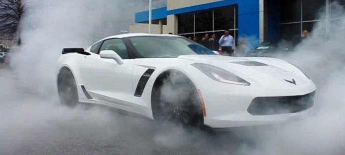 corvette z06 Burnout