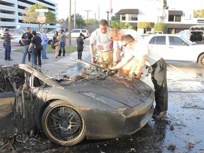 Lamborghini Gallaro fire in Tampa (4)