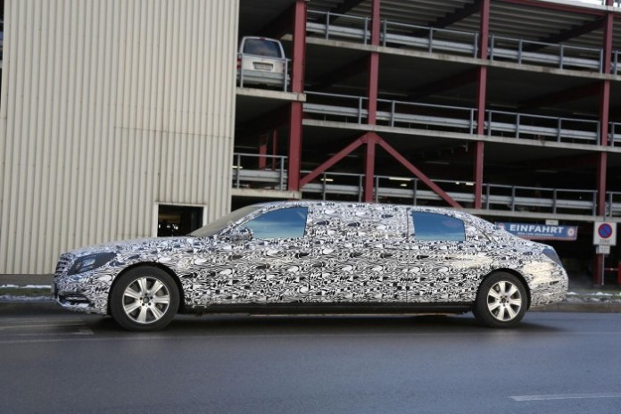 Mercedes S-Class Pullman 2016 Spy Photos (5)
