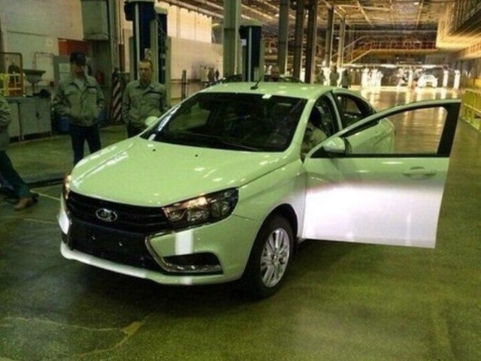Lada Vesta production-spec