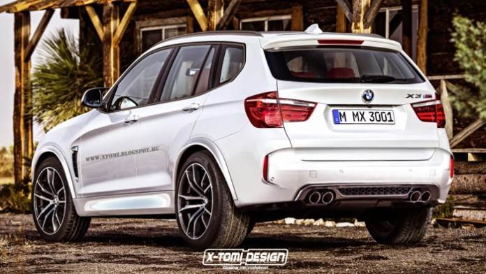 Bmw X3 M rear rendering