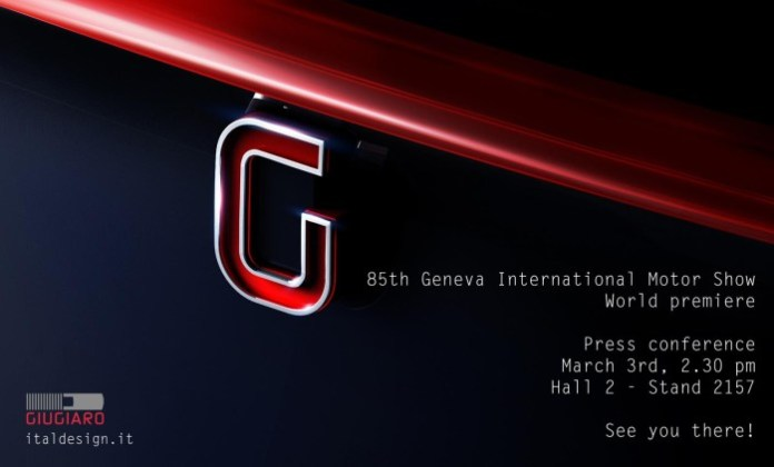 Italdesign Giugiaro invitation for 2015 Geneva Motor Show