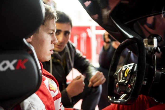 Sebastian Vettel and the Ferrari FXX K (2)