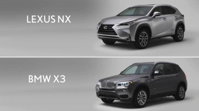 bmw x3 lexus nx