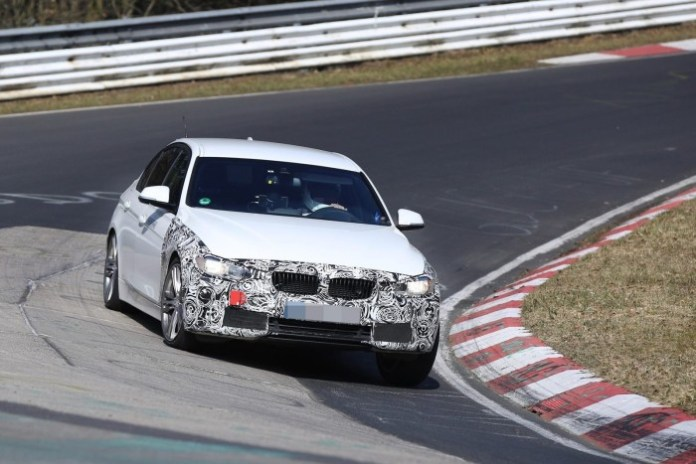 BMW 3-series facelift plug-in hybrid 2016 spy photo (3)