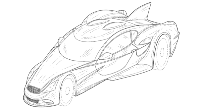 DeltaWing patent sketches