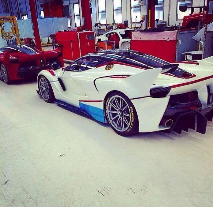 White Ferrari FXX K
