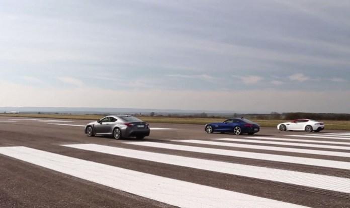 AMG GT S vs Aston Martin V8 Vantage N430 vs Lexus RC F