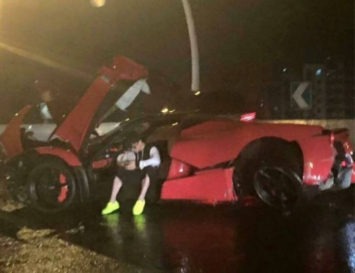 LaFerrari Crashed
