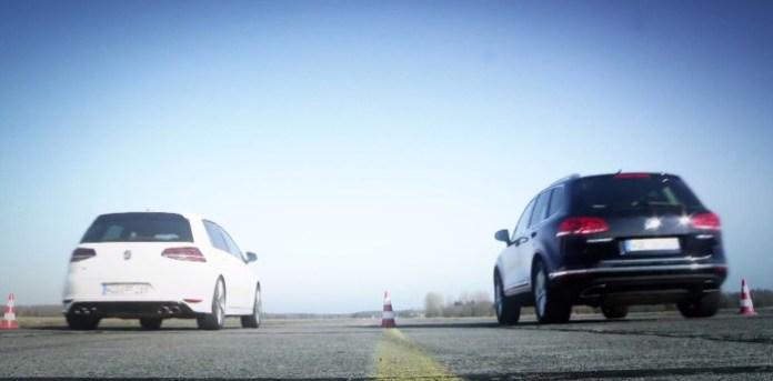 VW Golf R vs. VW Touareg V8 TDI