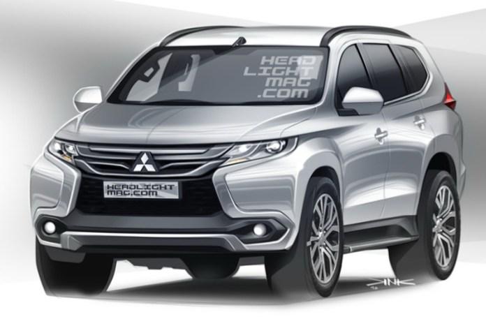2015-Mitsubishi-Pajero-Sport-front-three-quarter-rendering