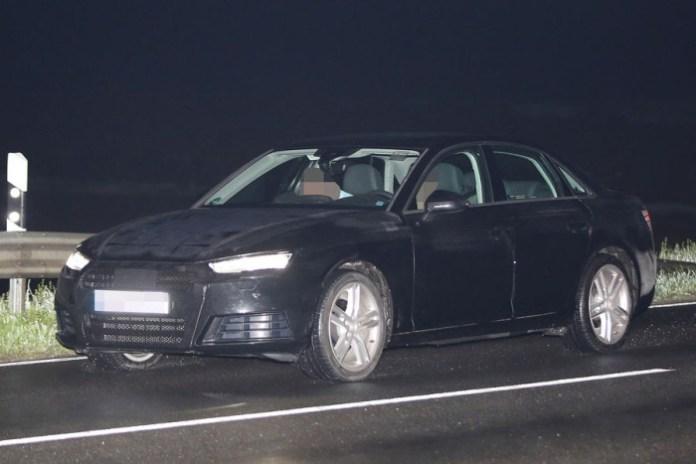 Audi A4 2016 in black spy photos (4)